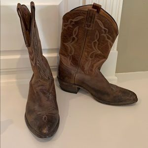 Brown Leather Cowboy Boots Size 10